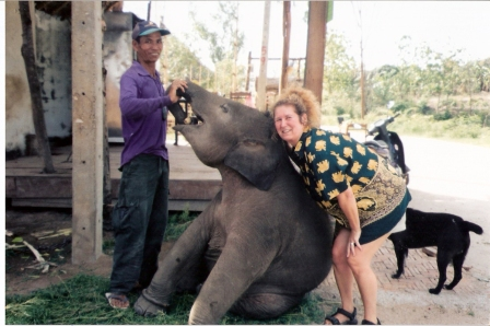 Lucy & Joy the Baby Elephant - Chitty's Love - Pai, Thailand