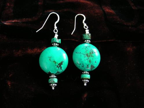 Betina's Tibetan Turquoise Earrings with Set   2008