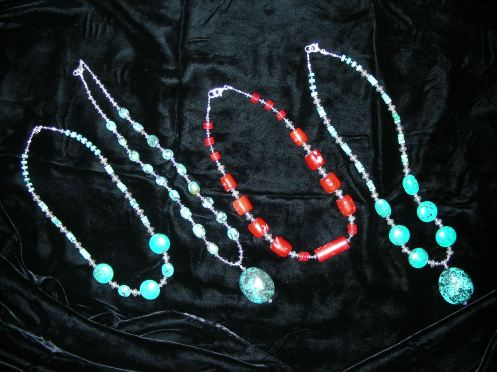 New York Necklace Creations from Turquoise to Coral!