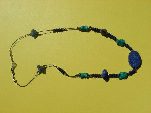 Cayley's Lapiz & Tibetan Turquoise Necklace
