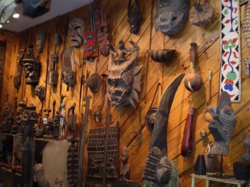 Greenwich Village - Bead Shop Tribal Masks - New York, N.Y.