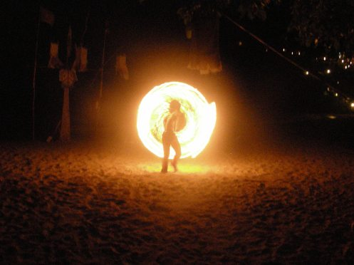 Fire Dancer on Beach at Koh Lanta Yai ~ Spectacular Fire an Inspiration!