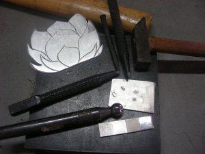 Lotus Flower Pendant ~ Texturing Explorations