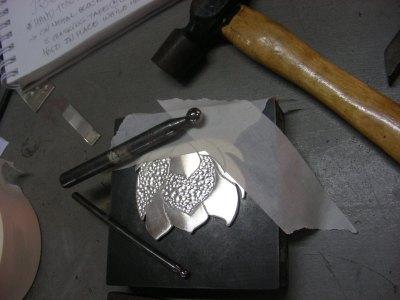Lotus Flower Pendant ~ Creating Three Dimensional Textures