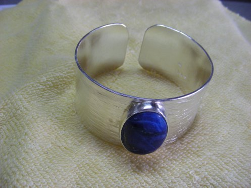 Ralph's Silver Cuff ~ Finished... Shining & Sparkling ... like magic!