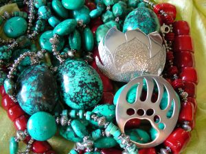Grizzly Bear Claw & Lotus Flower Pendants