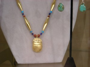 Egyptian Scarab Necklace - deYoung Museum San Francisco - Gift Store