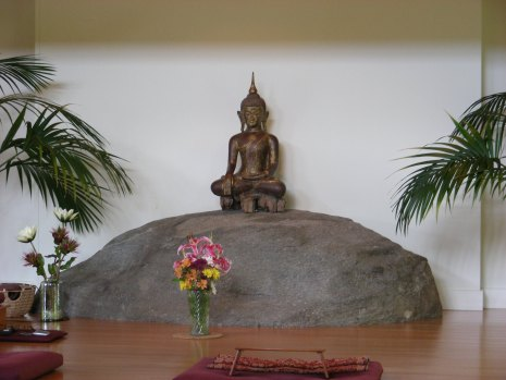 Buddha in Meditation Hall   at  the Forest Retreat - I M S