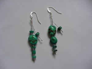 Tibetan Turqoise & Silver - Earrings for a Goddess - March 2011