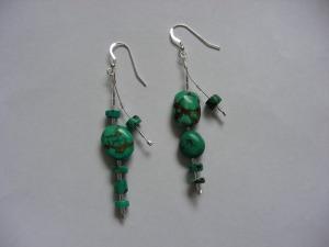 Tibetan Turqoise & Silver - Earrings for a Goddess - March 2011