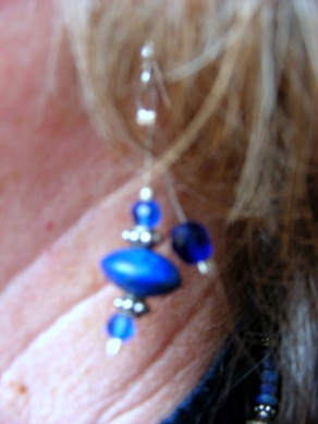 "Lapis Lazuli & Savorski Crystal Earrings - Stella's ""Garden Blues"""
