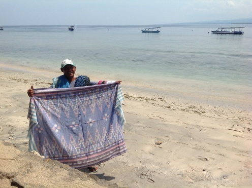 Russ the Artist on Gili Air