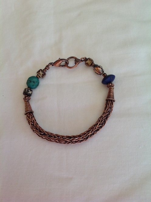 Copper Viking Knit Weave Jewellery ... For my  Viking Brother + His Love Glenda Lee